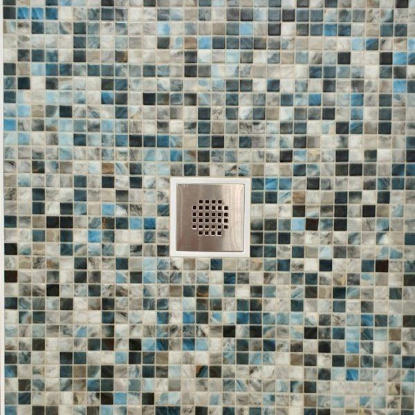 Receveur de douche en mosaïque vitrifiee